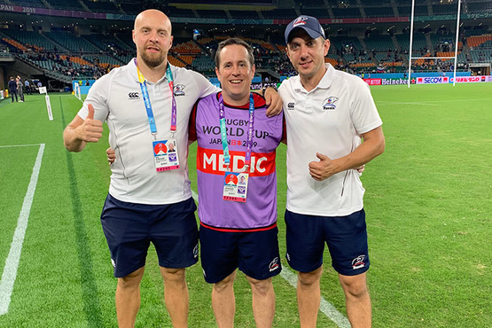 Head Physio Russia Rugby at Rugby World Cup Japan 2019